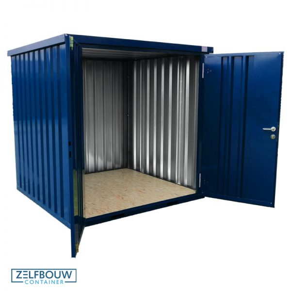 Demontabele container in RAL kleur blauw