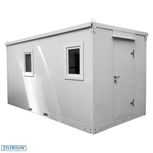 Demontabele kantoorunit in de kleur wit, 4 x 2 meter model