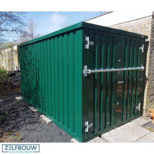 groene opslagcontainer materiaalcontainer 3 x 2 meter