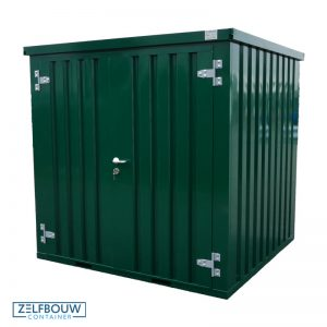 Materiaalcontainer demontabel 2x2 meter in RAL kleur 6005 groen