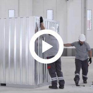 Demontabele Container 3 x 2 dubbele deur lange zijde
