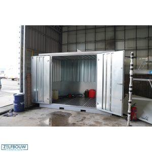 Gasflesopslag container voor opslag bedrijf