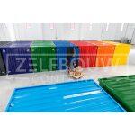 Demontabele gekleurde zeecontainers van Zelfbouwcontainer