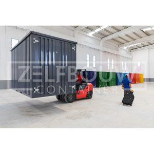 Demontabele opslag materiaalcontainer in RAL kleur Zelfbouwcontainer