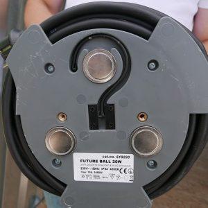 Lamp inclusief magneten en schroefoog, eenvoudig op te hangen
