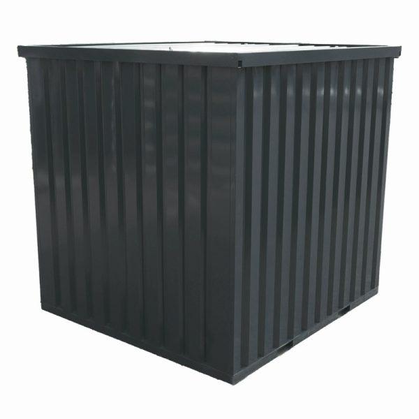 Standaard container 2×2 DDK – Deur dicht achterkant vanaf boven – Antraciet