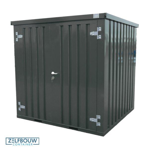 Standaard demontabele container van Zelfbouwcontainer in Ral kleur antraciet