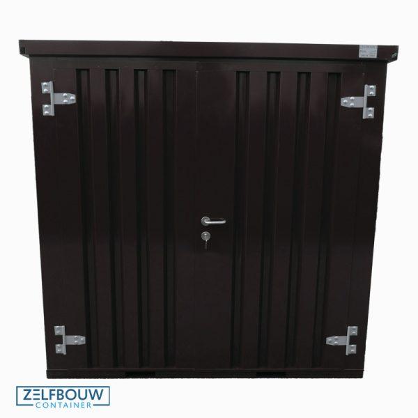 Zwart gekleurde demontabele container vooraanzicht in RAL kleur 9005