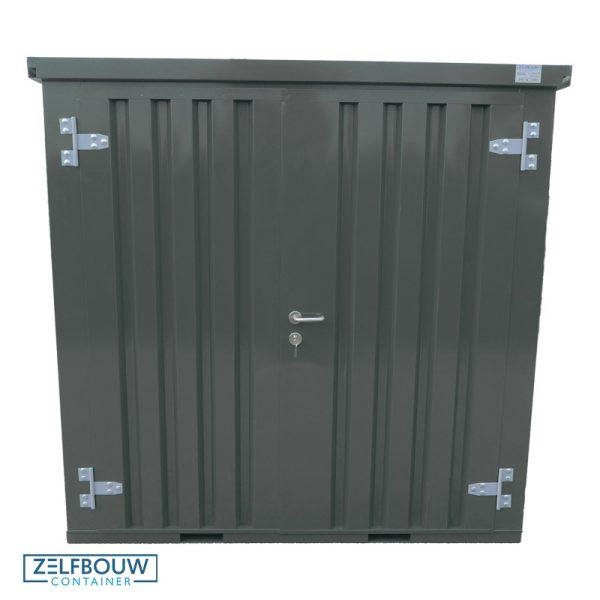 Demontabele container Zelfbouwcontainer in de kleur antraciet grijs. Demontabel