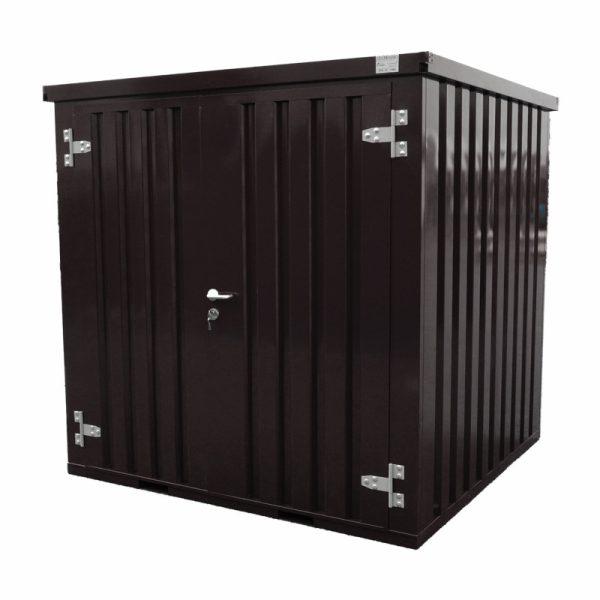 Demontabele container in zwarte kleur 2×2 dubbele deur aan de voorkant