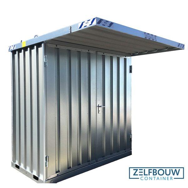 Productfoto van rookcontainer met afdak overkapping