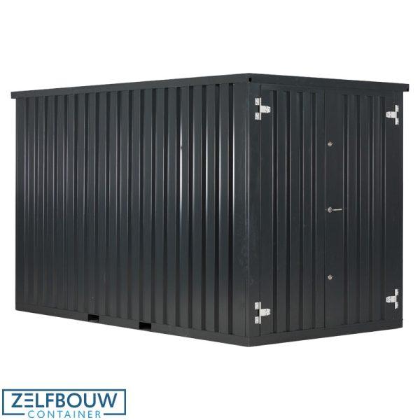 Zeecontainer demontabele opslag materiaal in RAL kleur zwart