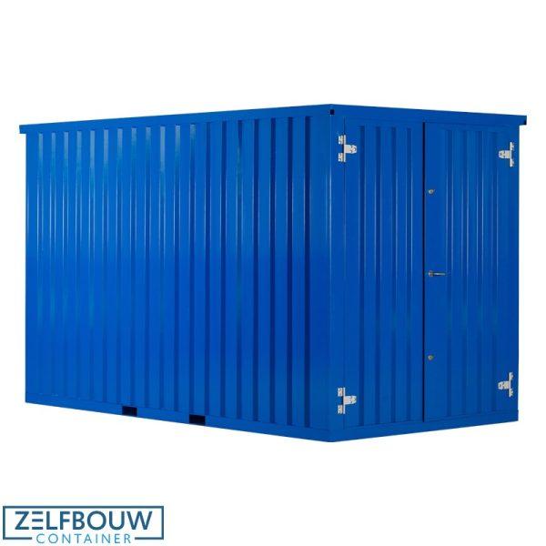 Donkerblauw gekleurde demontabele materiaalcontainer product foto