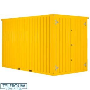Demontabele container in de RAL kleur geel van Zelfbouwcontainer Nederland