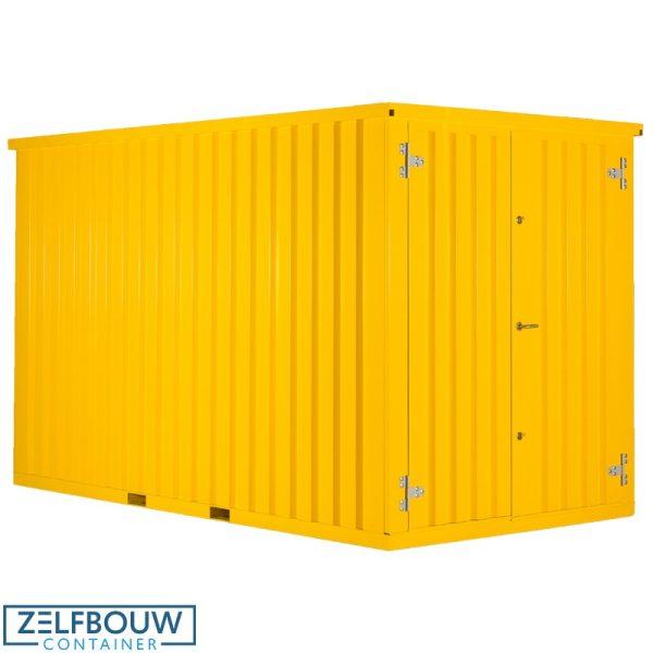 Demontabele container in de kleur geel, RAL gekleurde container van Zelfbouwcontainer Nederland