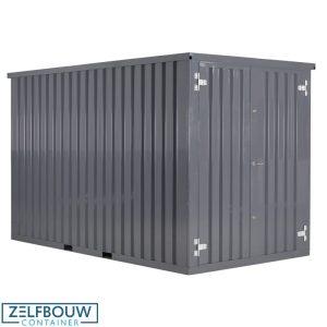 Zeecontainer demontabele opslag materiaal in RAL kleur grijs