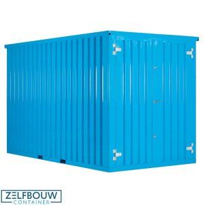 Zeecontainer demontabele opslag materiaal in RAL kleur blauw