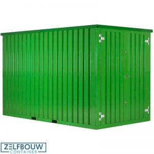Zeecontainer demontabele opslag materiaal in RAL kleur groen