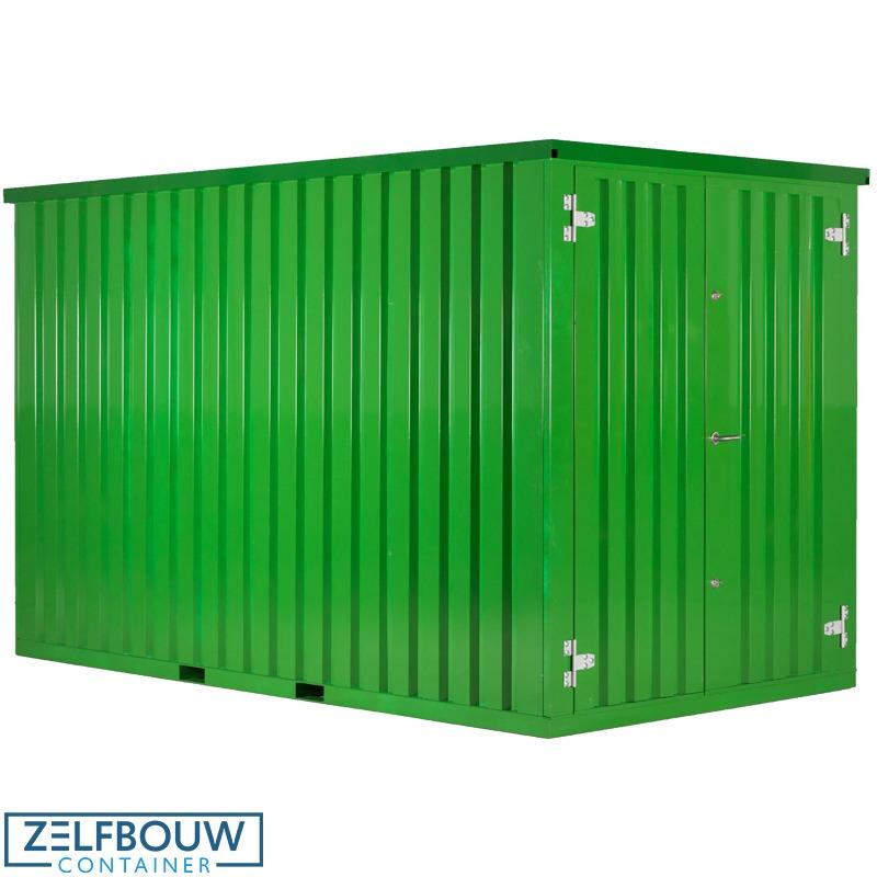 Lichtgroen gekleurde demontabele container van Zelfbouwcontainer Nederland