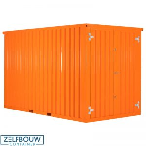Zeecontainer demontabele opslag materiaal in RAL kleur oranje