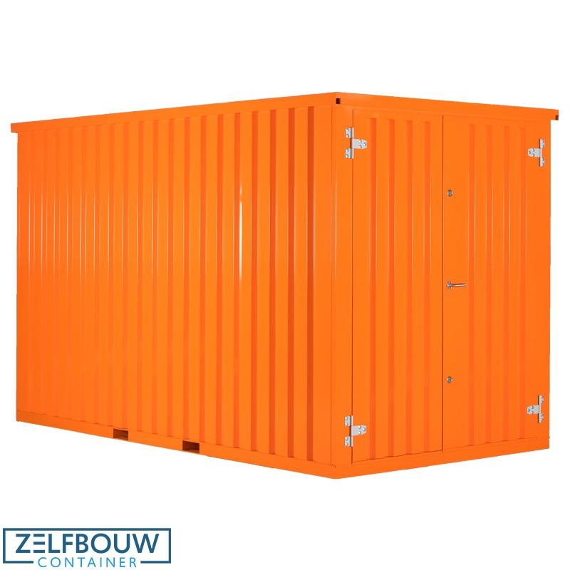 Oranje RAL gekleurde demontabele container van Zelfbouwcontainer Nederland