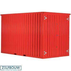 Demontabele opslag materiaalcontainer in RAL kleur 3020 briljantrood