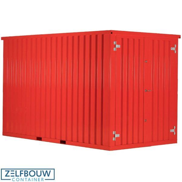 Productfoto van rood gekleurde demontabele 10ft zeecontainer van Zelfbouwcontianer Nederland