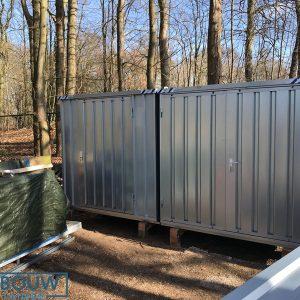 Verplaatsbare opslagcontainer materiaalcontainer op locatie tijdelijk