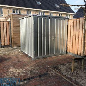 Demontabele opslagcontainer voor materiaal en tuinhuis