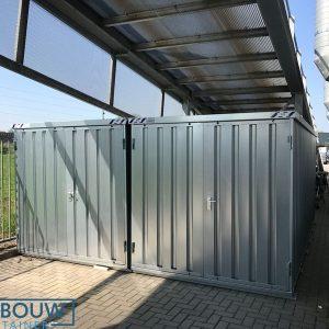Mobiele container demontabele opslag op locatie