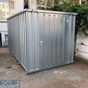 Tuinschuur voor opslag materiaalcontainer