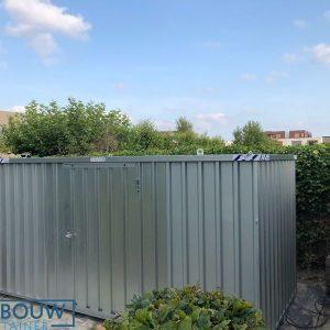 Opslagcontainer als demontabel tuinhuis of bij bedrijventerrein