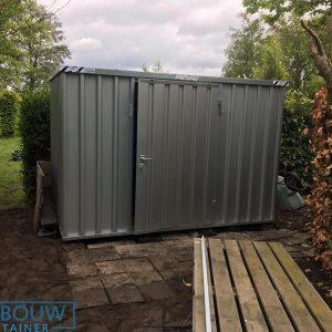 Mobiele opslagcontainer voor extra opslag in de tuin of bij kantoor