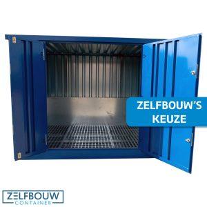 Chemische container 3 x 2 - Dubbele deur lange zijde