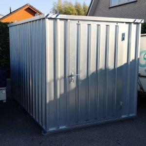 Opslagbox demontabele container op locatie
