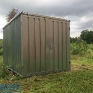Opslagbox demontabele materiaalcontainer op locatie