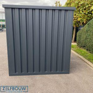 Opslagcontainer in RAL kleur donkergrijs van zelfbouw
