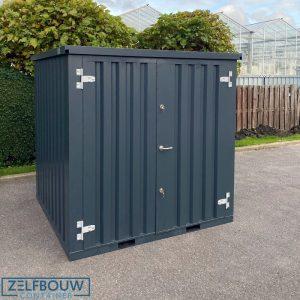 Materiaalcontainer in RAL kleur donkergrijs/antraciet Zelfbouw