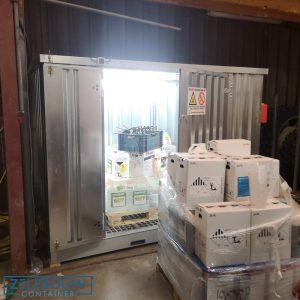 Chemische milieucontainer voor opslag van gevaarlijke stoffen