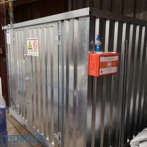 Milieucontainer opslag van gevaarlijke en chemische goederen