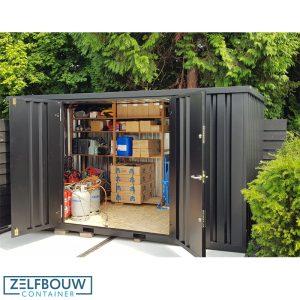 Demontabele tuinhuis geverfd in RAL kleur 7016 grijs/antraciet