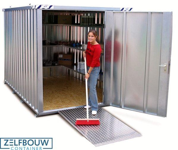 Premium model oprijplaat voor demontabele container