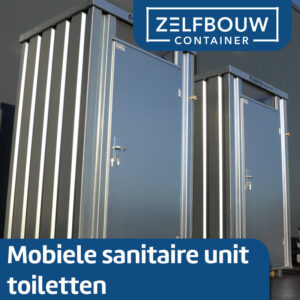 Mobiele sanitair unit toilet met urinoir 1,4 x 1,25