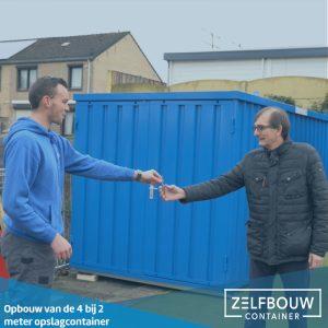 Demontabele Container 4 x 2 dubbele deur korte zijde in kleur