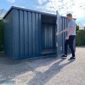 Demontabele Container Antraciet 3 x 2 enkele deur lange zijde