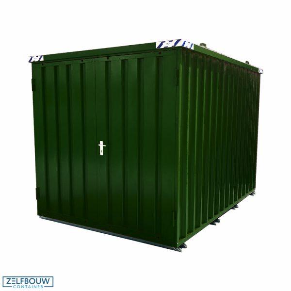 Demontabele Container 4 x 2 enkele deur aan korte zijde RAL 6020
