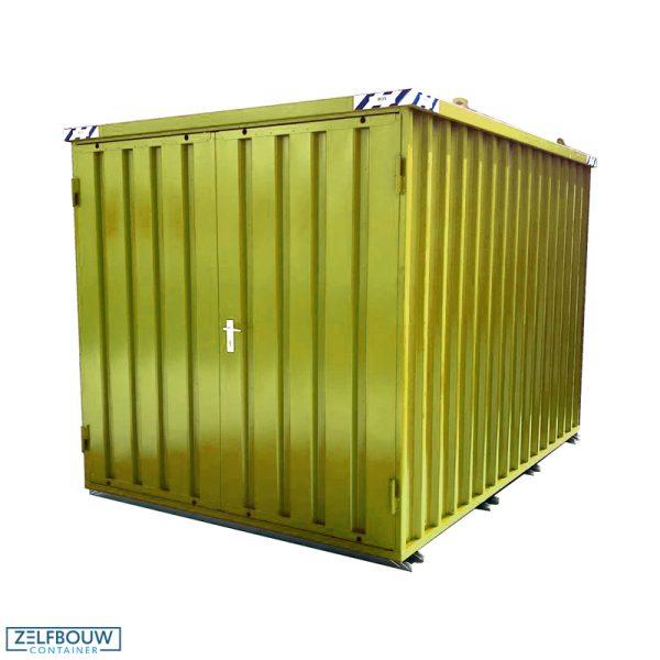 Demontabele Container 5 x 2 dubbele deur korte zijde in kleur