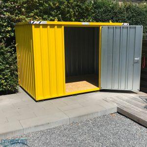 Demontabele Container 6 x 2 enkele deur lange zijde in kleur