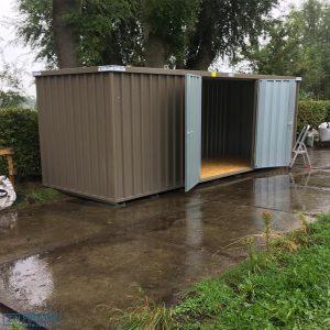 Demontabele Container 6 x 2 dubbele deur korte zijde in kleur