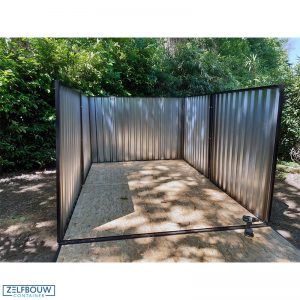 Grote opslagcontainer standaard model 4 x 6 x 2 m
